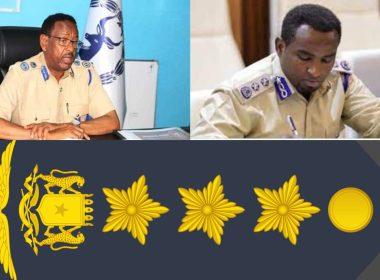 Somalia Ransack Police Commander of Military Rank