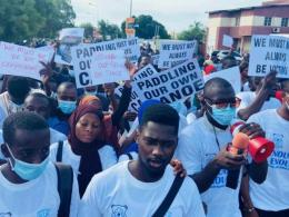 University of The Gambia Students Embark on Peaceful Protest (News Central TV)