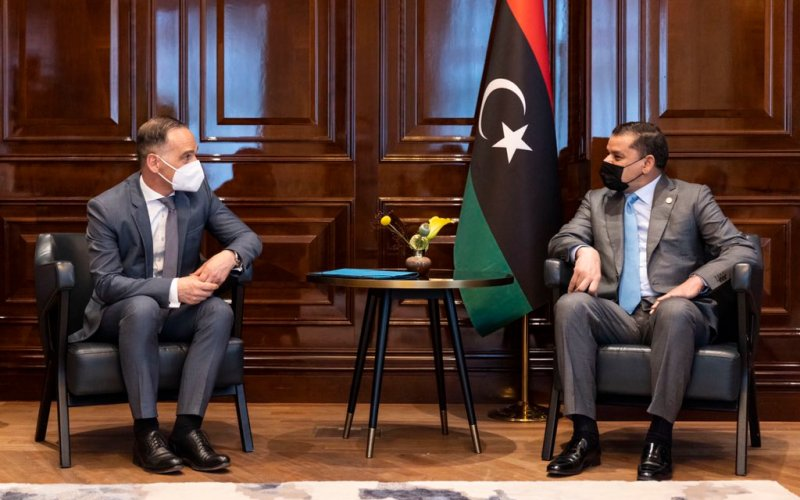 HeikoMaas meets with Libyan Prime Minister Abdul Hamid Mohammed Dbeibeh and Foreign Minister Mangoush