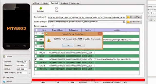 How-To: Fix Sp Flash Tool PMT change Rom Error When Reloading MTK