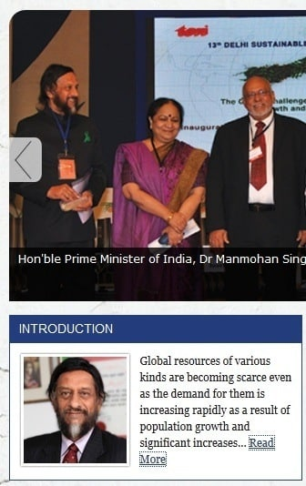 Front page of the 2013 summit website