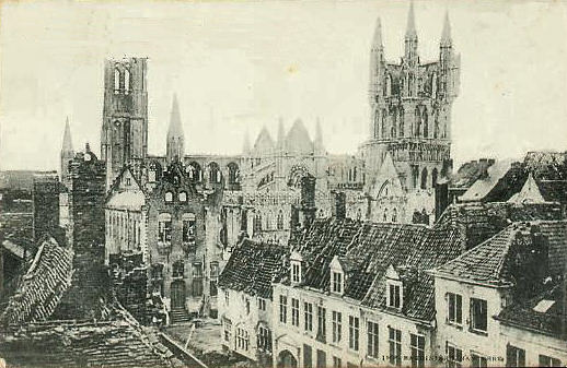 Ypres After Fascist Prussian Attack WWI