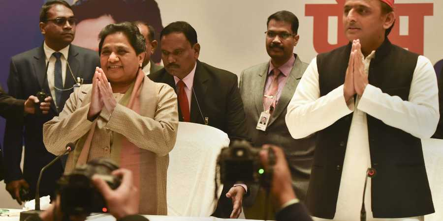 Image result for BSP-SP announce tie up for LS polls, keep Congress out of it