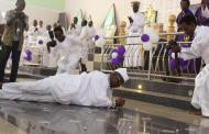 PHOTOS: OPC leader, Adams rolls on the floor during Church Thanksgiving Service
