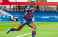 Oshoala scores first goal of the season as Barcelona Femeni crush Huelva