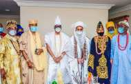 Etsu of Nupe, Oluwo, Olugbo other monarchs visit Oba of Lagos (PHOTOS)