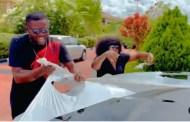 Funke Akindele's husband, JJC Skillz buys Toyota Prado SUV