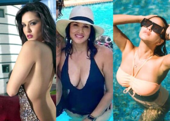 Sunny Leone Shares Hot photo from Swimming Pool