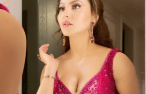 urvashi rautela flaunts her bold curves on internet in pink outfit