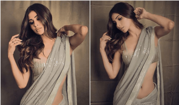 Actress Mouni Roy Looks Alluring in THIS Sequined Saree [PHOTOS]