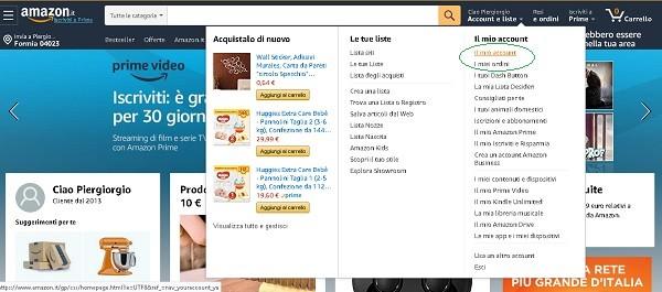 Proteggere il proprio account Amazon in pochi minuti