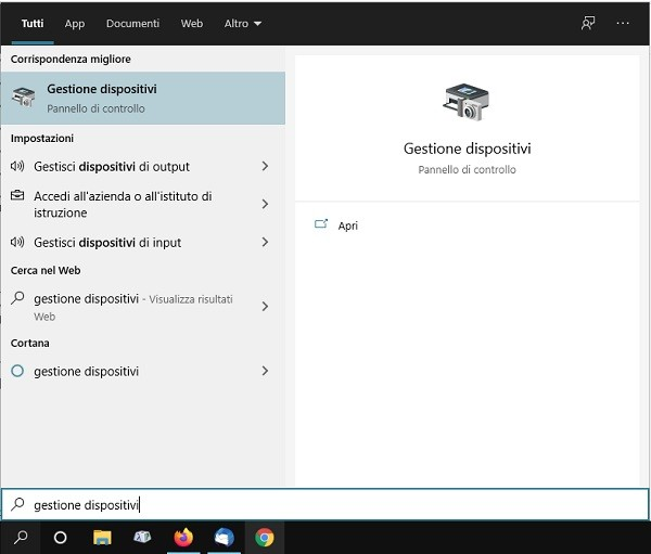 pc con wifi gestione dispositivi