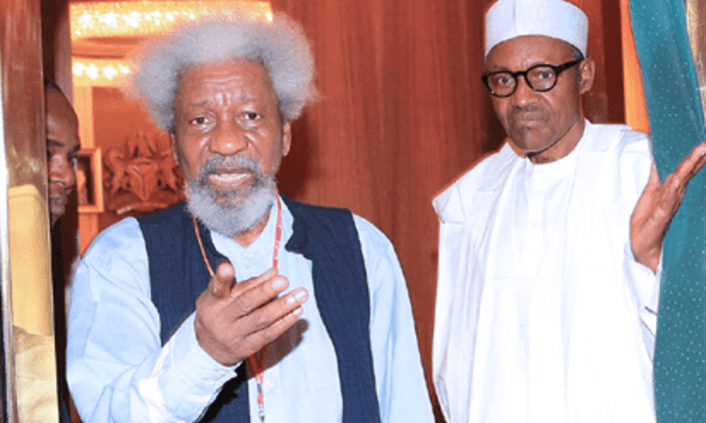 President Buhari is not in charge of Aso Rock – Prof Wole Soyinka