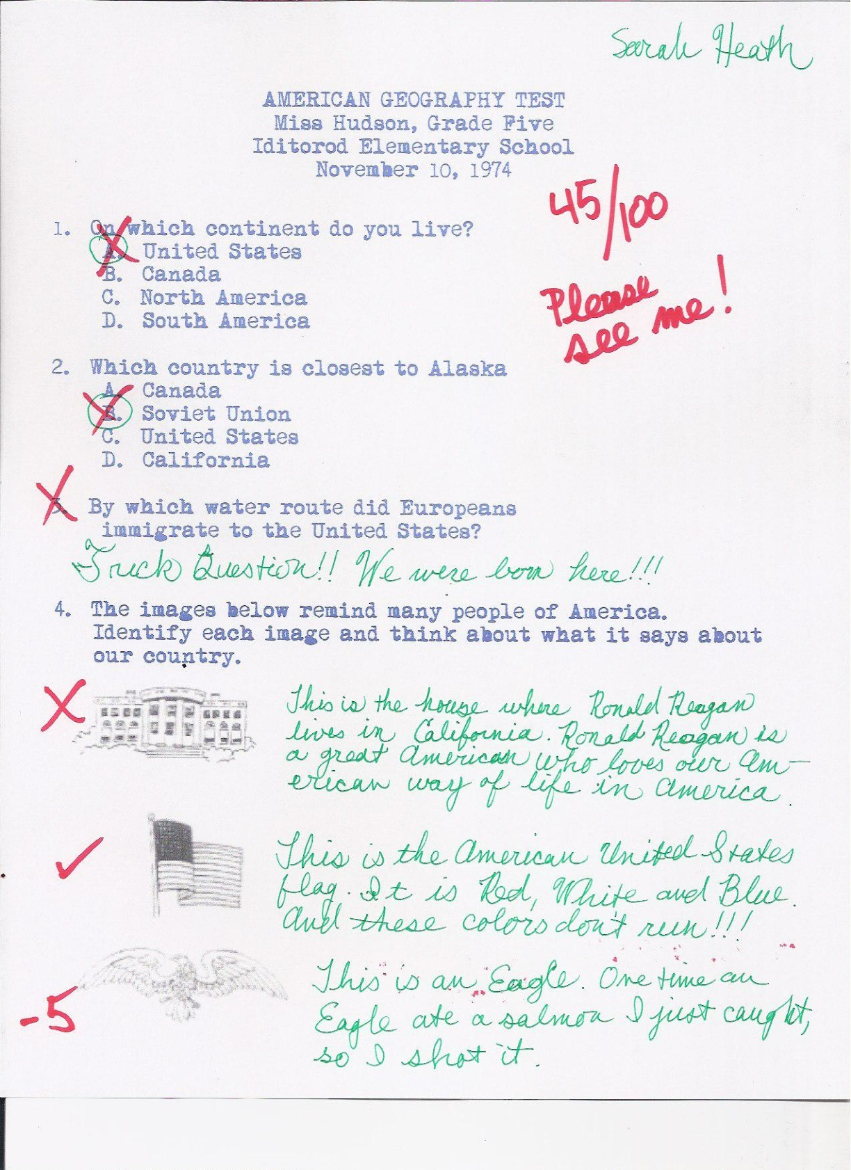 The Palin Papers Geography Test Grade 5