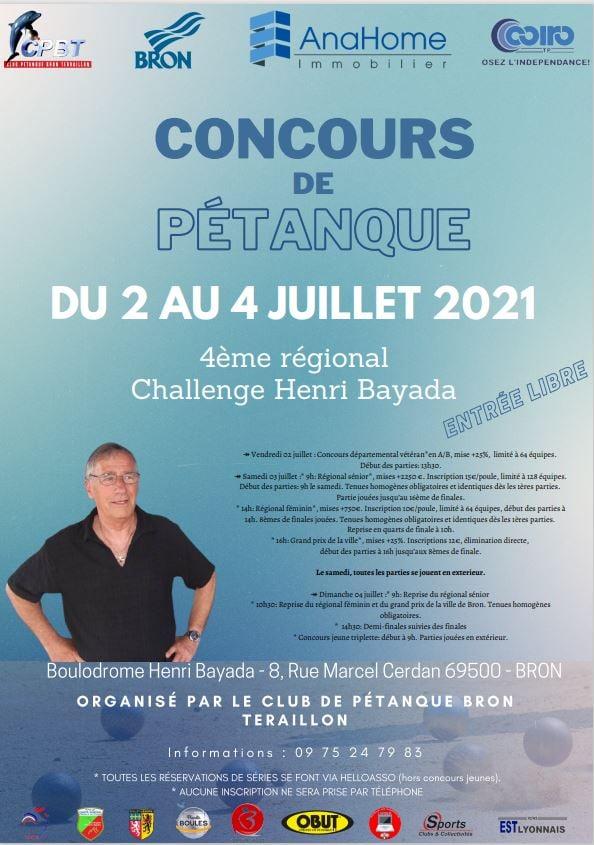 Bron-Terraillon Pétanque | 4° Challenge régional Henri Bayada