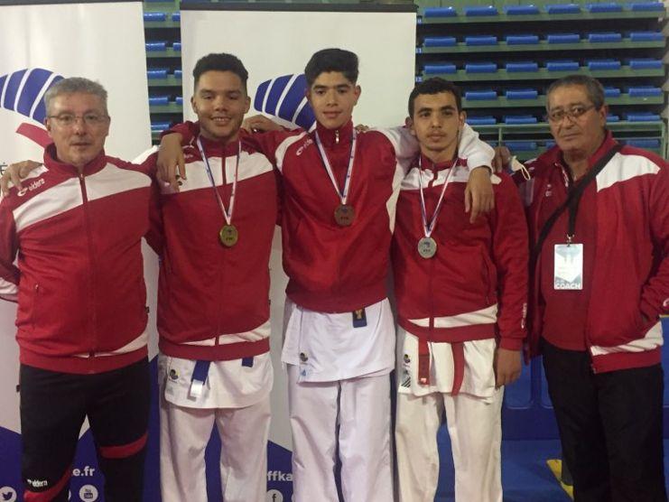 Entraineurs, médaillés : S. Gothuey, R. Baumann, I. Elguir, I. Yazid, D. Bezriche