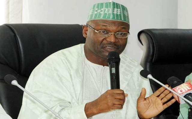 •INEC Chairman, Yakubu Mahmood
