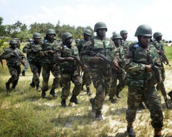 •Nigerian troops engaged in the war war against terror