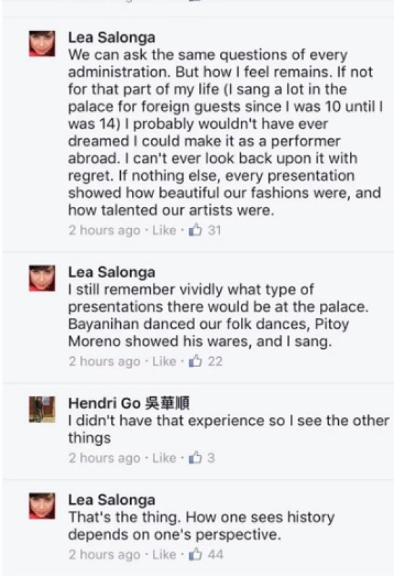 Lea Salonga Answered Netizens About Her Standpoint In Martial Law