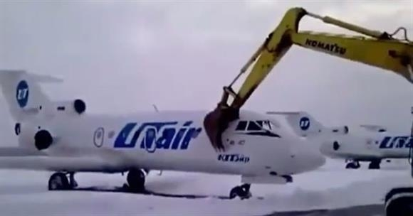 russian airport worker destroys plane after getting fired