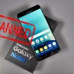 US Bans Samsung Galaxy Note 7