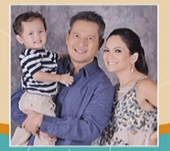 Amanda Page with husband Lee Mendiola and son Mason