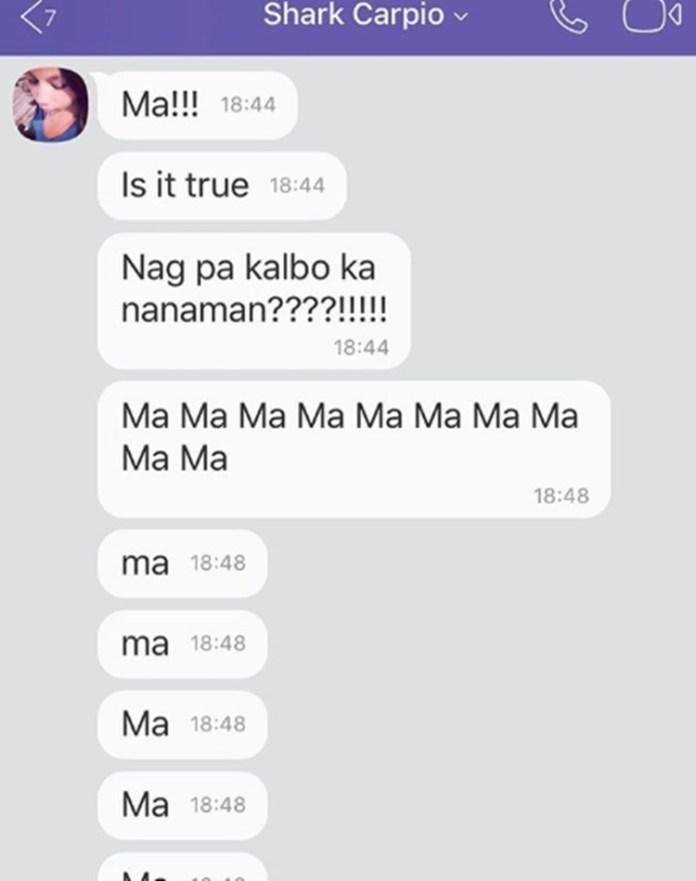 Shark Carpio's message to her mother Sara Duterte