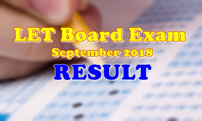 LET Board Exam Result