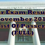 Bar Exam Results