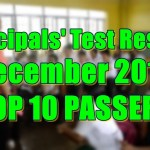 Principals Test Results