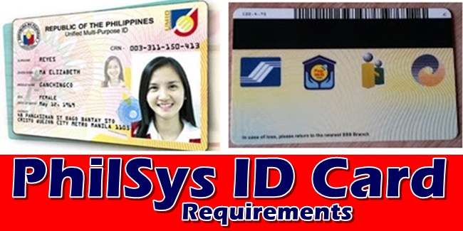 PhilSys ID Card Requirements