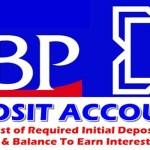 DBP Deposit Accounts