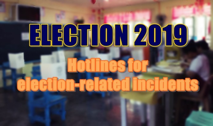 election 2019 hotlines