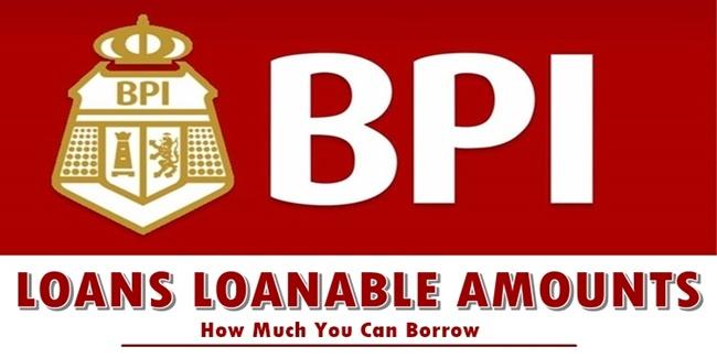 BPI Loans Loanable Amounts