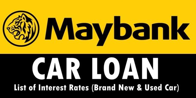 Maybank Car Loan Interest Rates Based On Term List