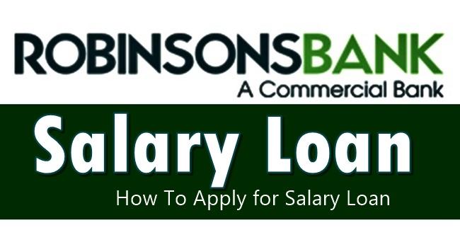 Robinsons Bank Salary Loan