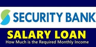 Security Bank Salary Loan