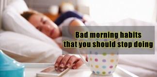 bad morning habits