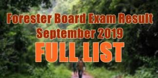 forester board exam full