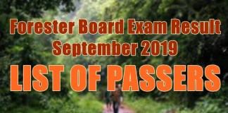 forester board exam passers