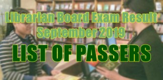 librarian board exam