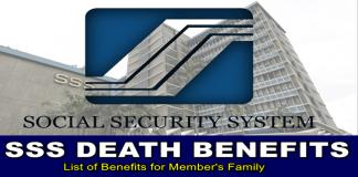SSS Death Benefits