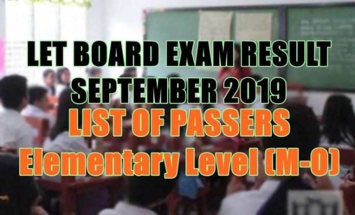 let board exam elem m-o