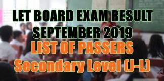 let board exam sec j-l