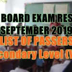 let board exam sec v-x