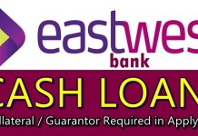 EastWest Bank Cash Loan
