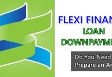 Flexi Finance Loan Downpayment