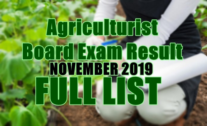agriculturist full list