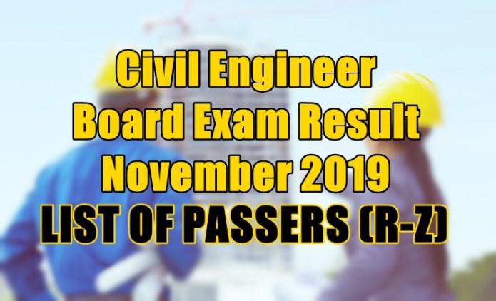civil engineer passers r-z