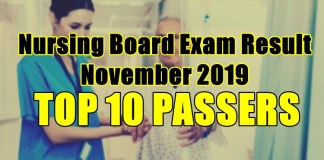 nursing board exam result top 10